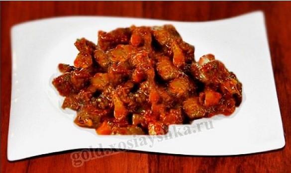 Рецепт мяса по кавказски