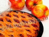 Пирог с яблоками.  Пирог со сливами из бабкового теста.