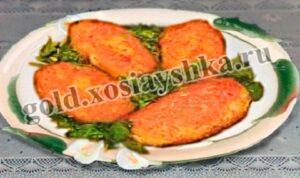 Котлеты картофельные с овощами