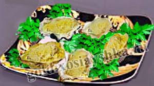 Запеченные устрицы с сыром