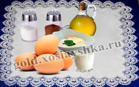 Перец, соль, сыр, майонез, сливки, растительное масло, яйцо