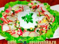 Салат из яиц с редисом