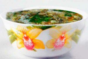 Суп грибной с галушками