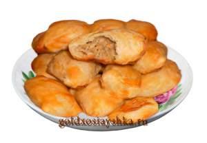 Пирожки с мясом из слоеного теста(кликните по картинке)
