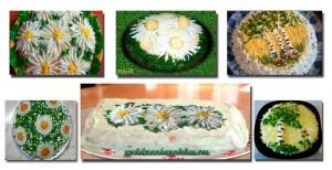 Варианты украшения салатов