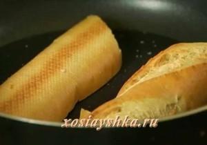 Разогреть хлеб