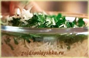Рис с рубленой петрушкой